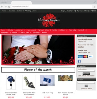 flower shop business website example