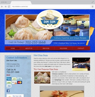 Chinese restaurant website example