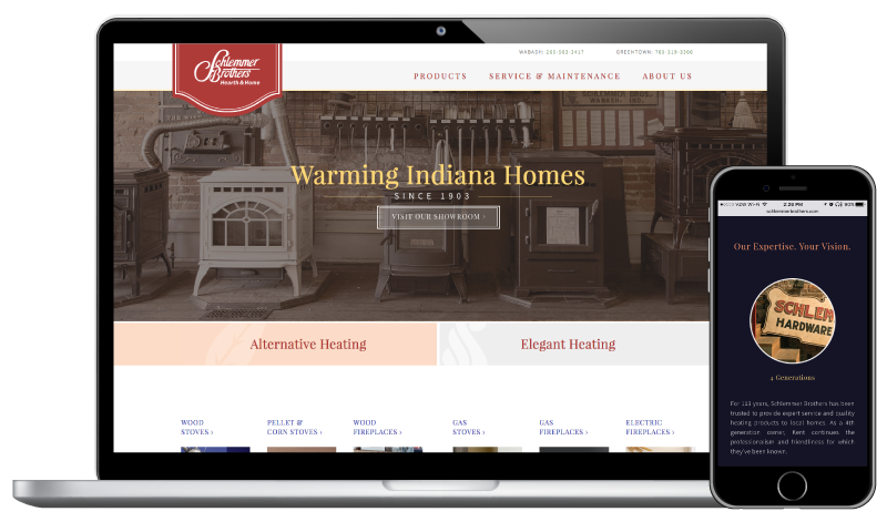 Schlemmer Brothers' mobile responsive website