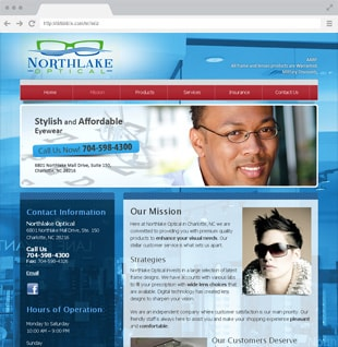eye doctor website example