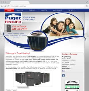 heating business website sample